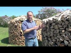 How to build round wood piles and the benefits to this.