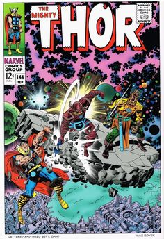 "The Mighty Thor #144 alternate cover by Jack ""King"" Kirby"