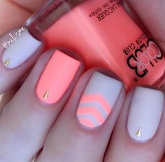 Multicolored Matte Y Chevron Nails The Neon Are Inspiration For Classy Girls Out There