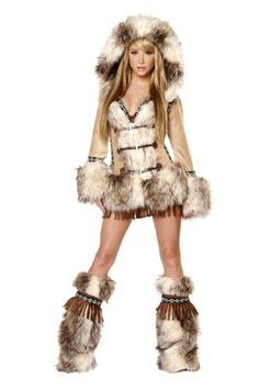 J. Valentine Women's The Eskimo Costume Hooded Coat Sequin Trimmed Toggle Front Closures, Tan/Brown, Small J. Valentine http://www.amazon.com/dp/B00JSNN9IK/ref=cm_sw_r_pi_dp_7Hd8vb0ZZNBHG