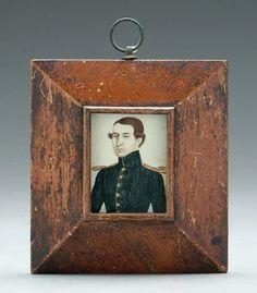 19th century miniature portrait; note the frame construction