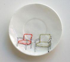 ceramic embroidery of Diem Chau http://decdesignecasa.blogspot.it