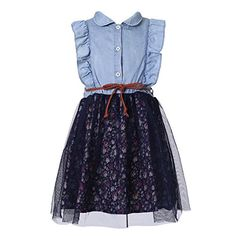 Richie House Girls Sleeveless Dress with Floral Bottom RH2177A56 -- Want additional info? Click on the image.