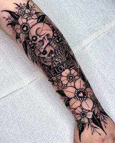 Dope Tattoos, Skull Tattoos, Pretty Tattoos, Unique Tattoos, Leg Tattoos, Body Art Tattoos, Arm Tats, Beautiful Tattoos, Tatoos