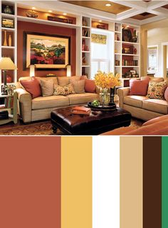 cozy living room color palette decoration lights for 43 and warm schemes your kayla jay i like this red yellow paint rooms home