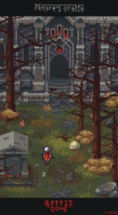Title:BattleGame: Mhyre's Grotto Pixel Artist:Thu