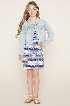 Girls Geo Print Dress (Kids)