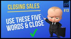 How to close any objection with these 5 words? There are many reason people dont buy. But if you want to increase your sales you need to stop selling and clo. Closing Sales, Public Speaking, Closer, Psychology, How To Become, Training, Things To Sell, Education, Words