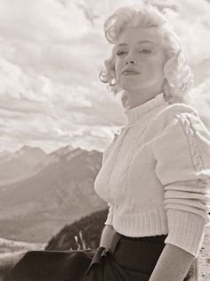 """In August 1953, photographer John Vachon from LOOK magazine was granted unusual access to starlet Marilyn Monroe while on the Banff, Alberta set of """"River of No Return."""" The negatives from these intimate photo sessions were then filed away for nearly 60 years -- until now, with the release of """"Marilyn, August 1953: The Lost LOOK Photos"""" from Dover Publications."""