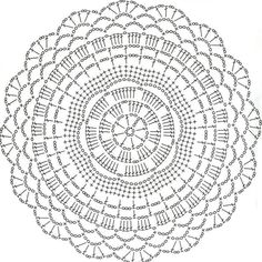 Lair knitting and motives of crochet tableclothDoily pattern (no photo of finished doily)Discover thousands of images about The Snorka crochet doily rug pattern is designed for crocheting with t-shirt yarn. Plaid Au Crochet, Crochet Doily Rug, Gilet Crochet, Crochet Placemats, Crochet Doily Diagram, Crochet Carpet, Crochet Mandala Pattern, Crochet Round, Crochet Home