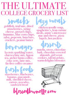 Blessed Brunette: The Ultimate College Grocery List
