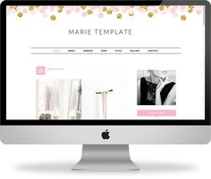 Premade Blogger Template  Instant Download  Marie  by KayBrighton