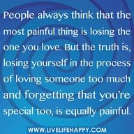 Don't lose yourself....