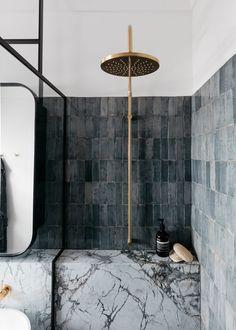 Vertical Stack Bond in the Shower | Centsational Style Bathroom Trends, Bathroom Renovations, Bathroom Ideas, Bathroom Designs, Bathroom Organization, Bathroom Inspiration, Bathroom Interior Design, Decor Interior Design, Interior Garden