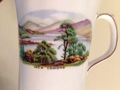 Loch Lomond Scotland DUCHESS COFFEE MUG BONE CHINA TEA CUP Coat Of Arms