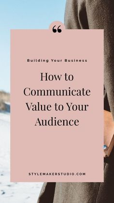 Sick of competing on price? There is a better way. This post will tell you exactly how to communicate value to your audience so you can start charging (and earning) what you deserve. Business Model, Fashion Business, Business Profile, Business Advice, Business Entrepreneur, Online Business, Business Grants, Business Writing, Business Coaching