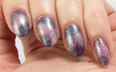Violet Galaxy Nails