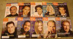 Biography Magazine Lot of 10 Back Issues Jan Oct 1999 GC Oprah JFK Jr | eBay
