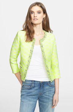 Mcginn 'Jana' Diamond Woven Jacket available at #Nordstrom