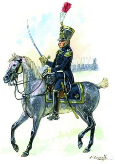 French; 30th Line Major 1812 by P.Courcelle