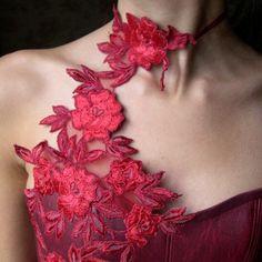 Robe de mariée rouge | Carole CELLIER, créatrice de robes de mariée