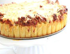 Pasta mal anders, aus der Familienküche, Nudeltorte, Rigatonitorte, Kochen für Kinder, Nudelgericht, Rezeptidee, Kindergericht
