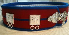Silba avvi - Saami belt with silver for a married woman, Gällivare, gällivarekolt Handarbete av/made by Eva Simma.