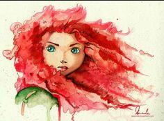 Beautiful watercolor Merida