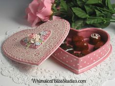 Whimsical Bliss Studios -  Pink Heart Box of Candy