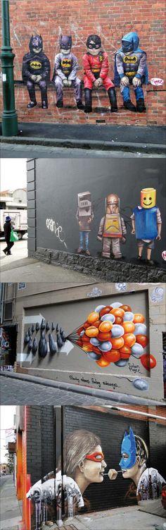 Fresques murale de Fintan Magee