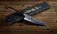 The beautiful Shizuku Santoku knife. #japanese #knife #cooking