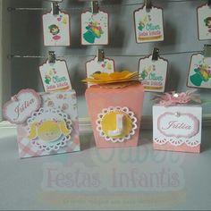 Personalizados tema Flores e Rosas by Oliver Festas Infantis ☺