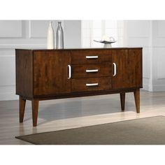 @Overstock.com.com - Draper Tobacco Finish Buffet Cabinet - $517.49  35.4 H x 63 W x 17.7 D
