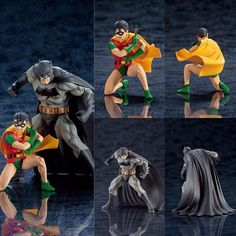Kotobukiyas lineup of ARTFX statues based on the characters appearing in DC COMICS continues with Batman and Robin! Batman and Robin look better than ever in this highly detailed 1/10 scale sculpt. Batman stands ready for action while Robin crouches with a batarang prepared to throw. Based on the style of Jim Lee these classic versions of the Dynamic Duo are sure to be a hit with any Batman collector. For more exclusive figures and statues come check out @animegamistore http://ift.tt/2d2pMPT…