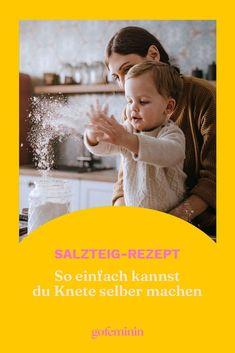 Knete selber machen? Das geht super einfach mit unserem genialen Salzteig-Rezept! #DIYKnete #Kinderbeschäftigen #Basteln #BastelnmitKindern Tutorials, Movie Posters, Movies, Diy, Mom And Dad, Super Simple, Family Life, Parents, Tips And Tricks