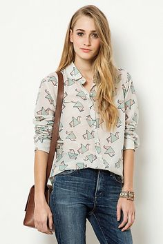 Origami Blouse #anthropologie