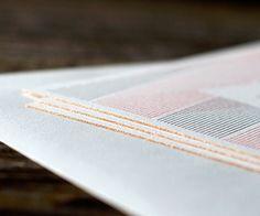 GOLD lining on letterpress