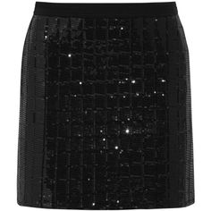 Karl Lagerfeld Harlow sequined quilted jersey mini skirt (2 200 ZAR) ❤ liked on Polyvore featuring skirts, mini skirts, black, short black skirt, sequin skirt, black mini skirt, jersey skirt and black miniskirt
