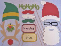 PDF - Christmas photo booth props/decorations/craft - printable DIY. $3.95, via Etsy.