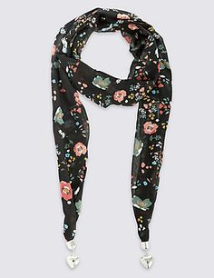 Ditsy Floral Scarf Necklace   M&S