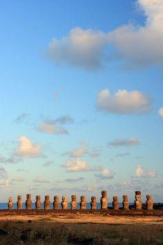 Moai's, Easter Island, Rapanui