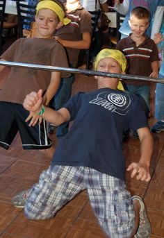 Doing the limbo at Bush's Beans Family Party Pinned by evoconference.com #evoconf
