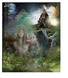 """Gaia"" by annette-heathen ❤ liked on Polyvore featuring art and goddess"