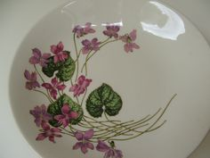 Two  Soup or Salad Plates Ovingtons Fifth Avenue Sweet Violets by lookonmytreasures on Etsy