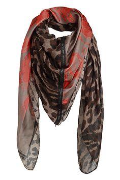 Esprit - Patchwork Schal mit Seide