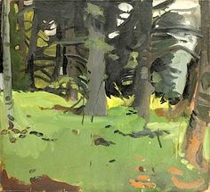 bofransson:  Fairfield Porter, Spruce and Birch, 1964