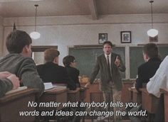 Film Quotes, Book Quotes, Dead Poets Society Quotes, Oh Captain My Captain, I Love Cinema, Movie Lines, Film Aesthetic, Film Serie, Pretty Words