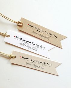 Custom Gift Tags Made With Love Tag Pennant Custom Tags Label Kraft Tags Wedding Favor Tags Custom Favor Tags wedding tags (Set of Handmade Gift Tags, Personalized Gift Tags, Customized Gifts, Personalized Wedding, Handmade Ideas, Handmade Wedding, Wedding Gift Tags, Rustic Wedding Favors, Wedding Labels
