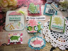 Webster's Pages Palm Beach Handmade Scrapbook Embellishments Paper Embellishments for Scrapbooking Layouts Cards Mini Albums Paper Crafts