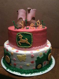 John Deere Birthday Cake for Girls!